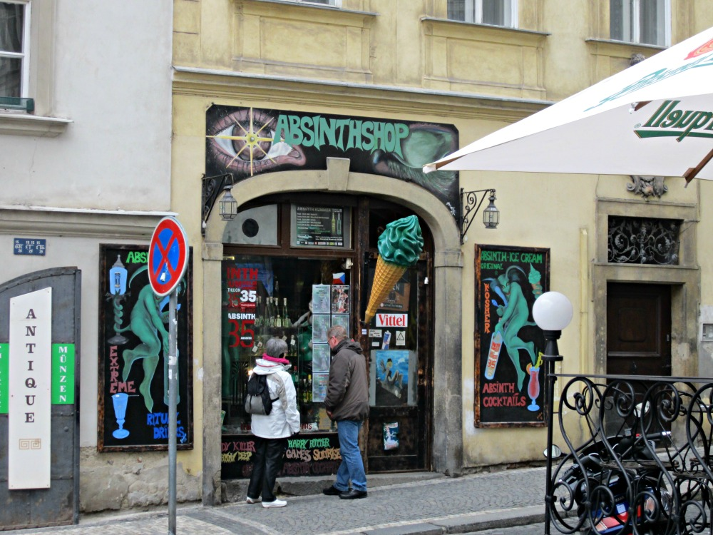 Absinth shop, Prague