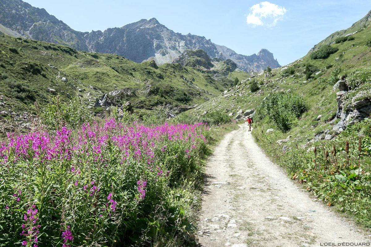 Sentier de randonnée Cormet de Roselend, Le Beaufortain Savoie Alpes