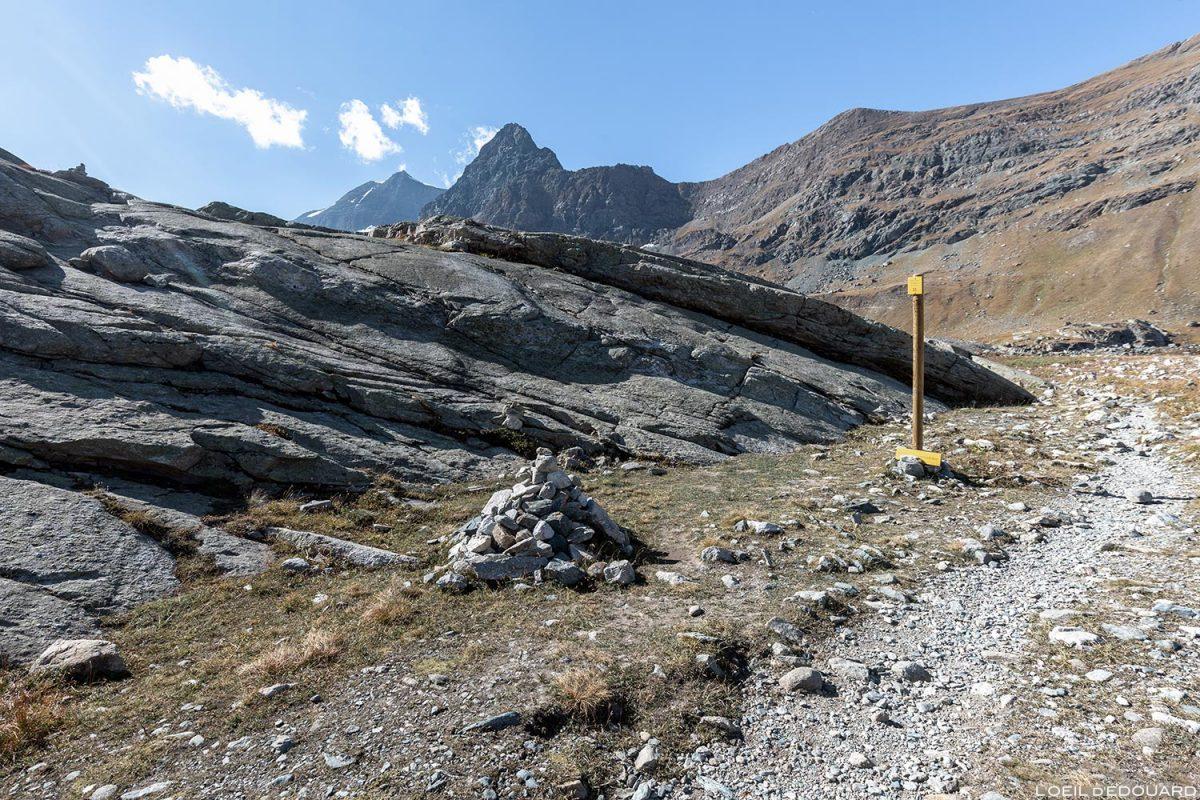 Itinéraire de randonnée au Lac du Grand Méan dans le Cirque des Évettes - Alpes Grées, Haute-Maurienne, Savoie Alpes