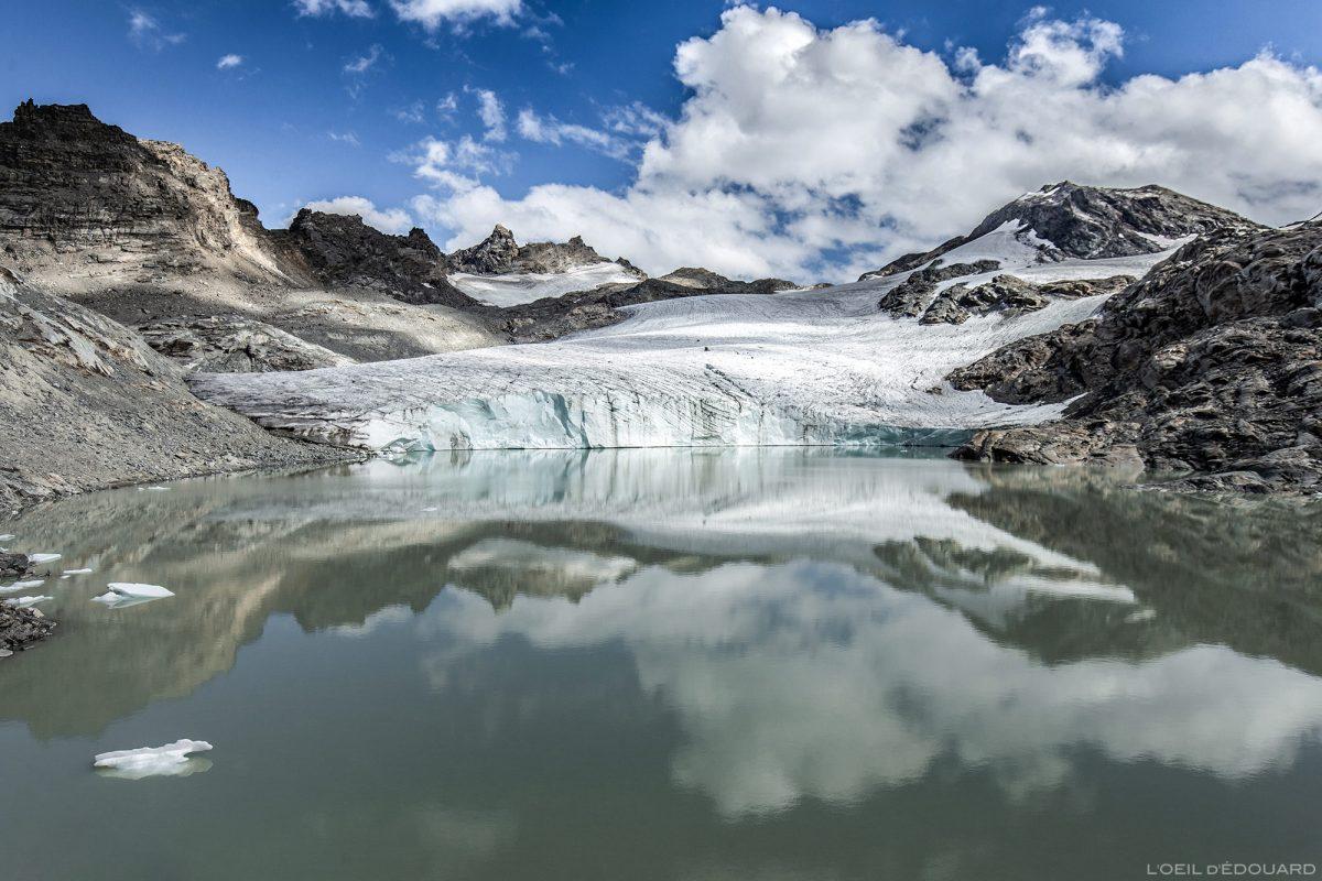 Le Lac et le Glacier du Grand Méan, au-dessus du Cirque des Évettes - Alpes Grées, Haute-Maurienne, Savoie Alpes © L'Oeil d'Édouard - Tous droits réservés