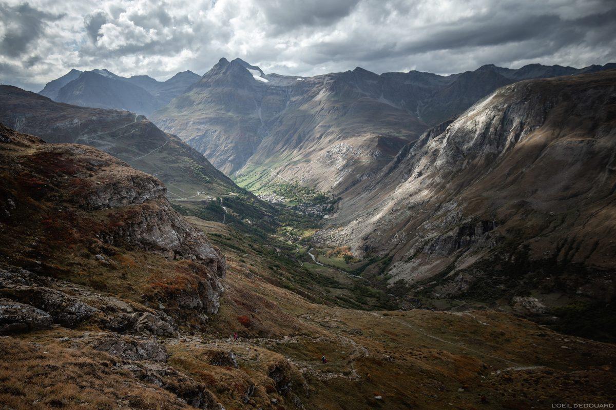 Vallée de la Haute-Maurienne avec Bonneval-sur-Arc, L'Écot et le Pointe de Méan Martin - Alpes Grées, Savoie Alpes © L'Oeil d'Édouard - Tous droits réservés