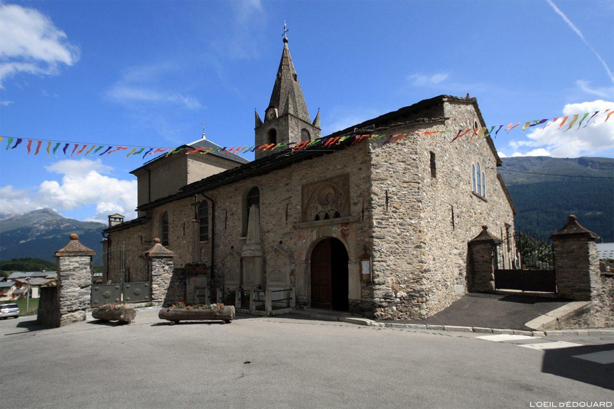 Église Notre-Dame de l'Assomption à Aussois, Haute Maurienne Savoie Alpes