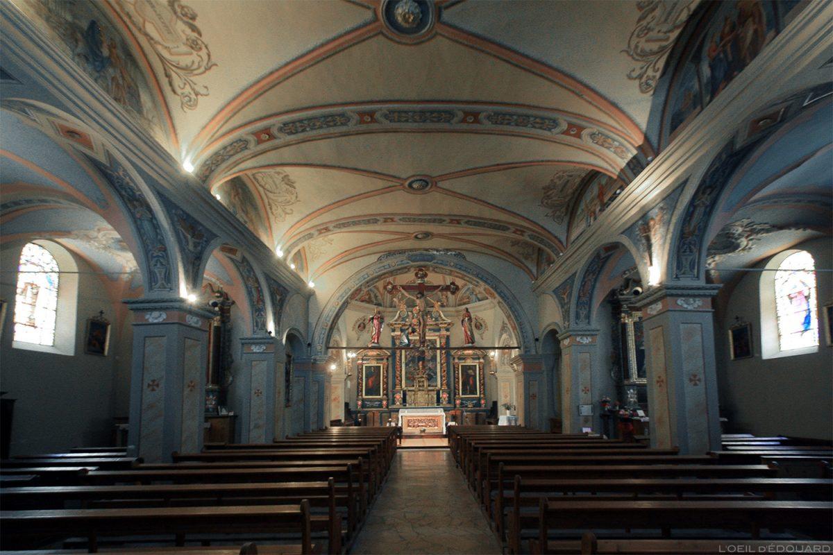 Intérieur Baroque - Église Notre-Dame de l'Assomption à Aussois, Haute Maurienne Savoie Alpes