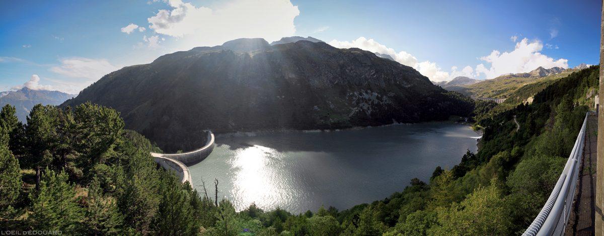 Lac de Barrage du Plan d'Aval, au-dessus d'Aussois, Haute Maurienne Savoie Alpes