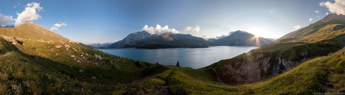 Coucher de soleil au Lac du Mont Cenis - Haute Maurienne Savoie Alpes