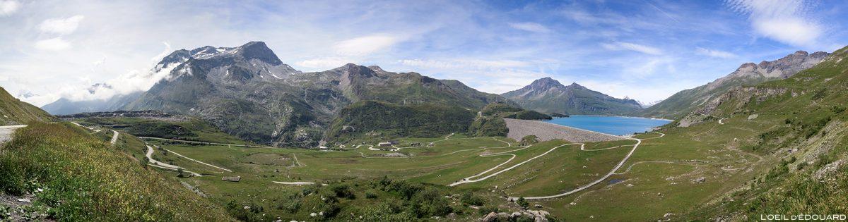 Le Col du Mont-Cenis avec le barrage et le Lac du Mont Cenis - Haute Maurienne Savoie Alpes