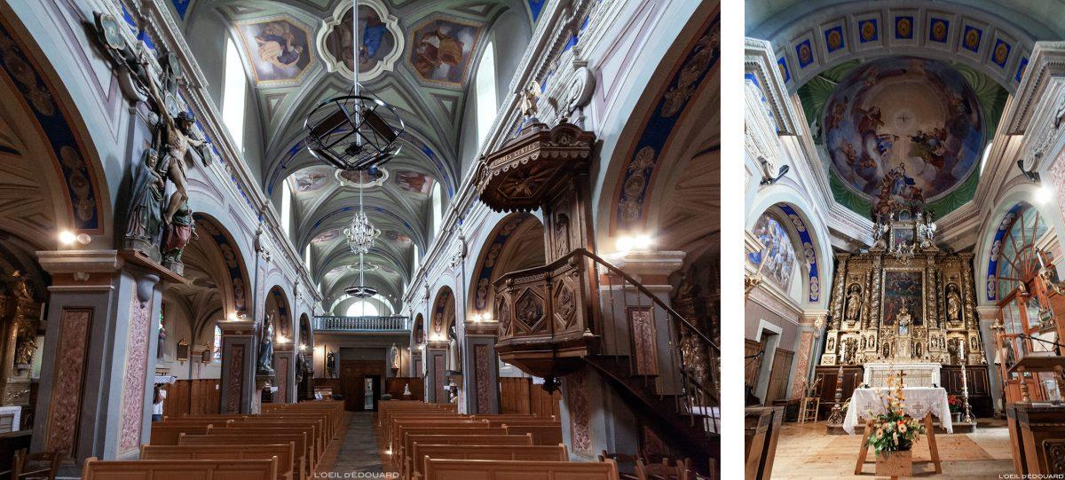 Intérieur Baroque - Église Notre-Dame de l'Assomption de Termignon - Haute Maurienne Savoie Alpes