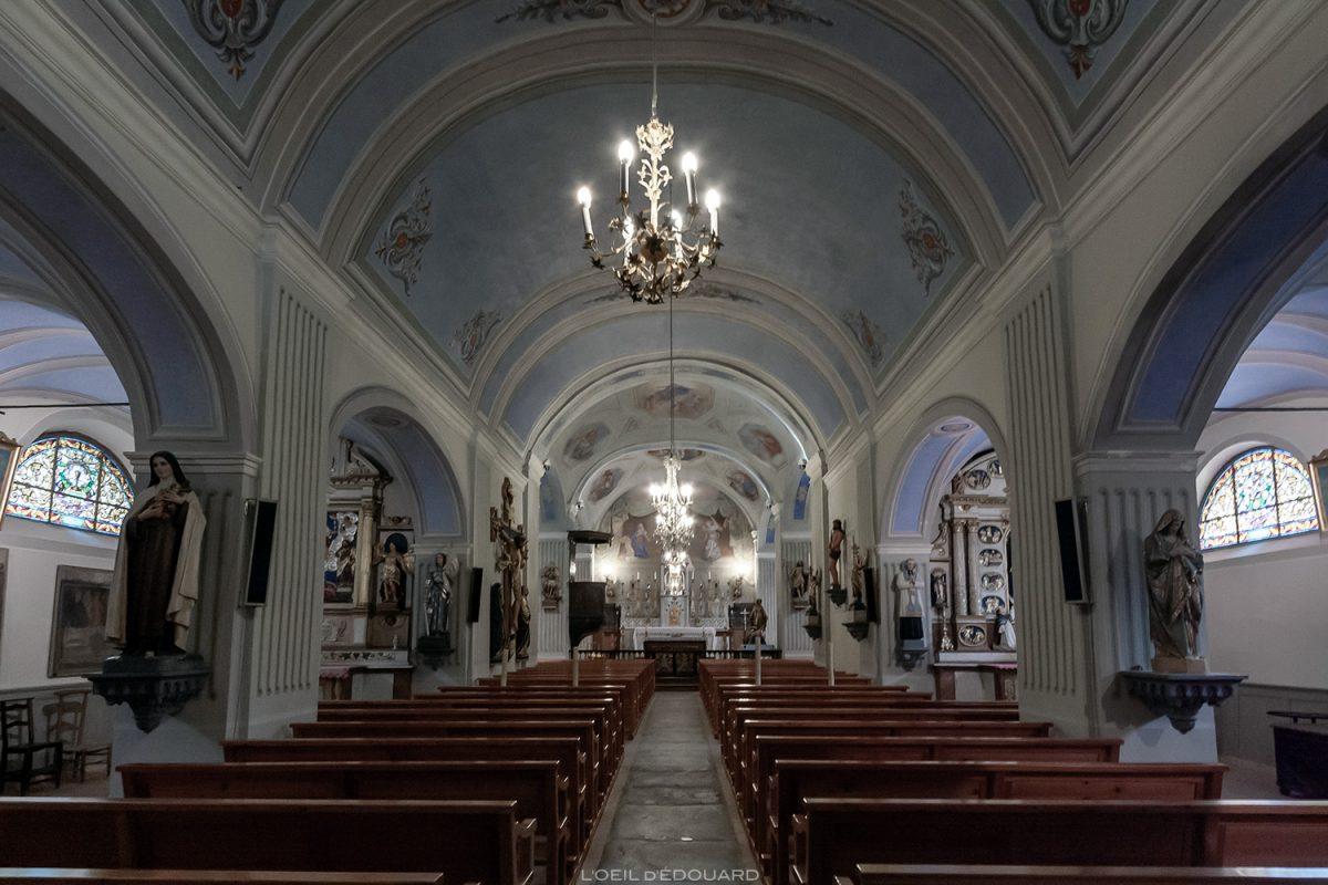 Intérieur baroque - Église Saint-Pierre à Bessans - Haute Maurienne Savoie Alpes