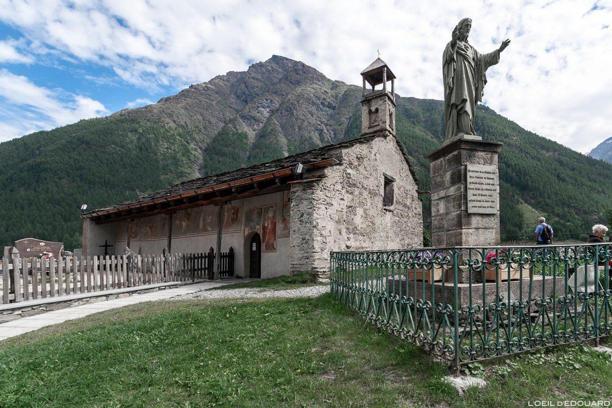 Chapelle Saint-Antoine à Bessans - Haute Maurienne Savoie Alpes