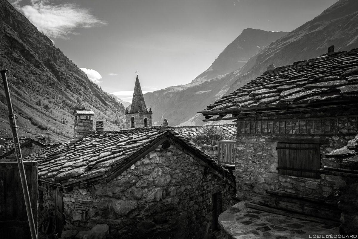 Toits en lauzes sur les maisons de Bonneval-sur-Arc - Haute-Maurienne Savoie Alpes © L'Oeil d'Édouard - Tous droits réservés © L'Oeil d'Édouard - Tous droits réservés