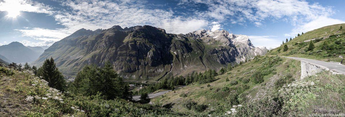 Route D902 vers le Col de l'Iseran - Vallée de la Haute-Tarentaise Savoie Alpes