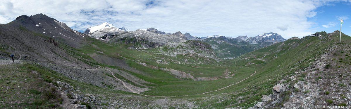 Le Massif de la Vanoise depuis le Col de Fresse au-dessus de Tignes, Haute-Tarentaise Savoie Alpes Paysage Montagne