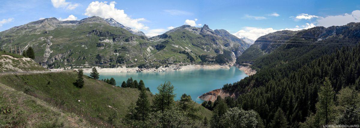 Le Lac de Chevril, Barrage de Tignes, Haute-Tarentaise Savoie Alpes Grées