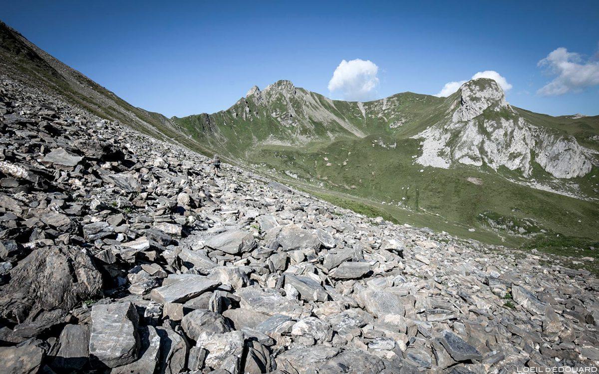Randonnée vers le Col du Coin et le Mont Coin, Le Beaufortain Savoie Paysage Montagne Alpes