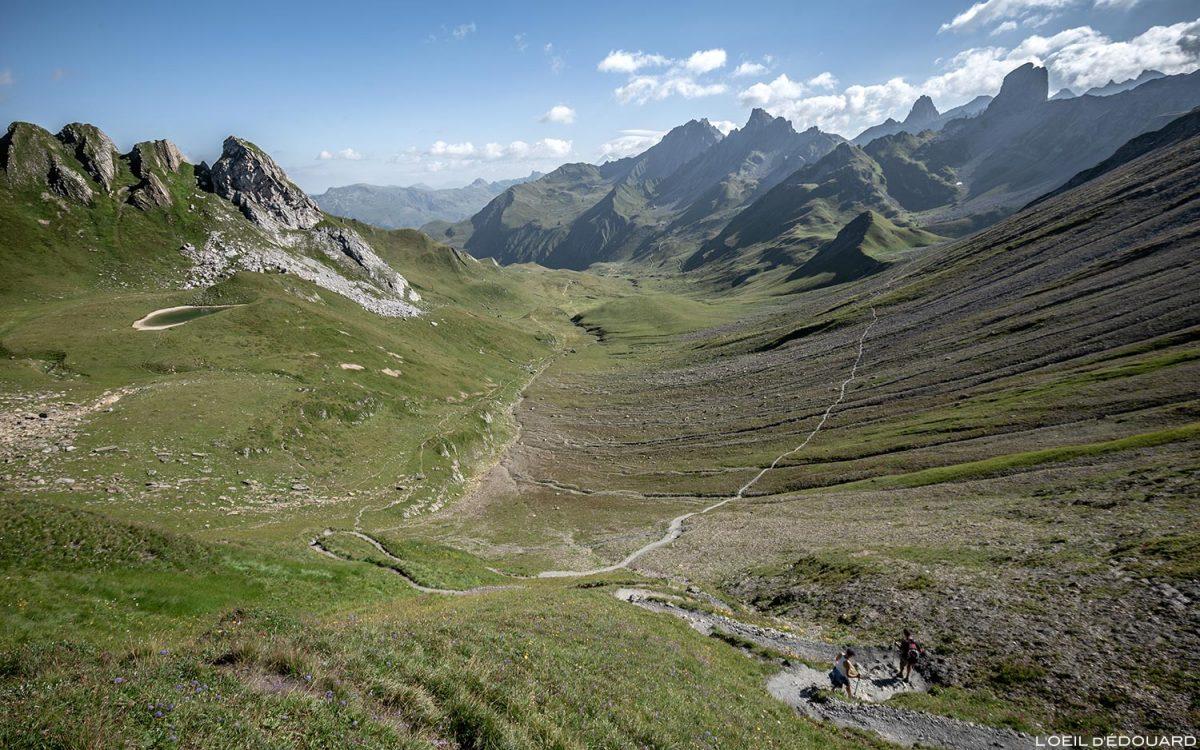 Vallon du Coin depuis le Col du Coin, Le Beaufortain Savoie Paysage Montagne Alpes