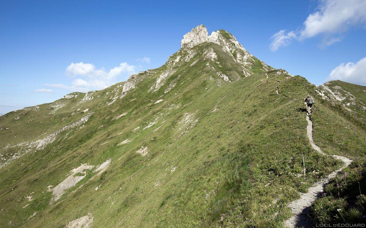 Le Mont Coin depuis le Col du Coin, Le Beaufortain Savoie Paysage Montagne Alpes