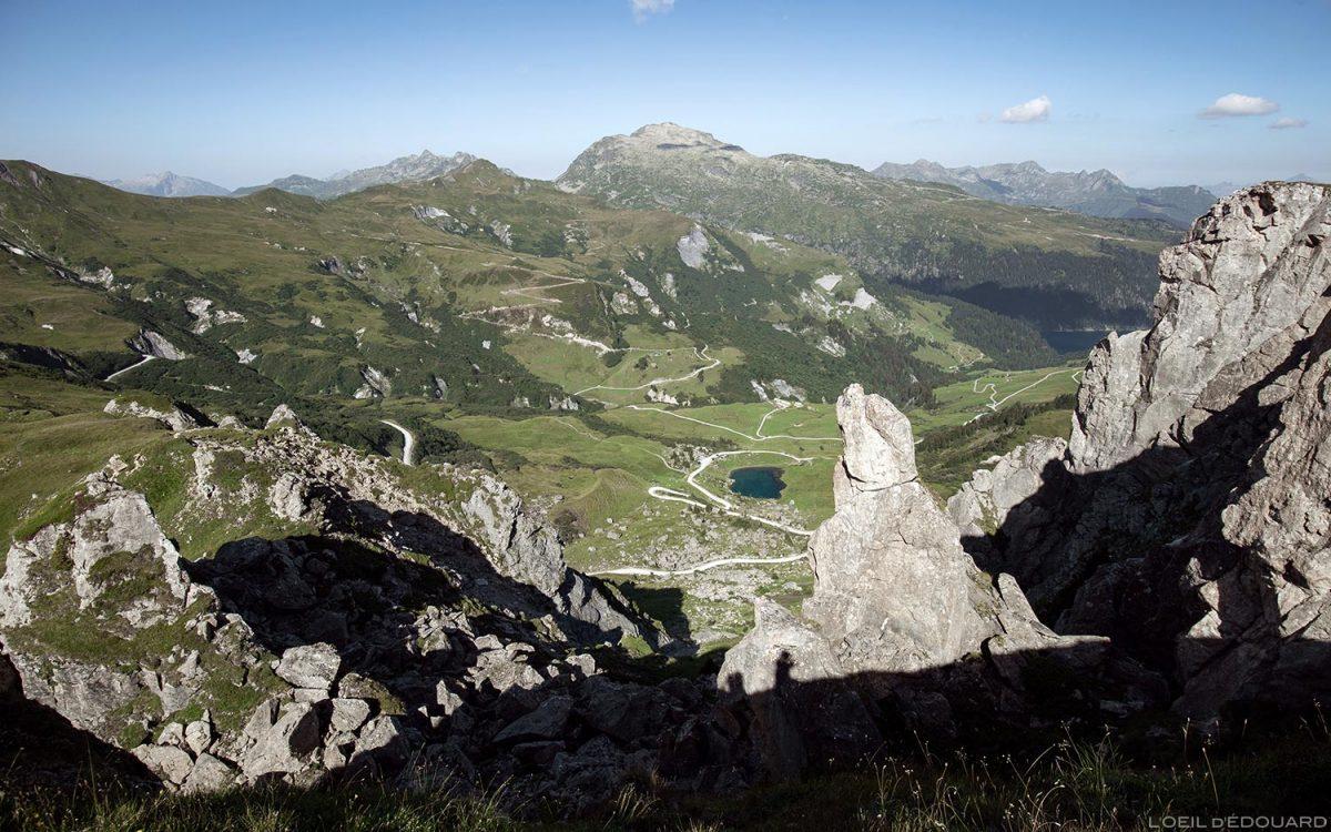 Le Lac des Fées et le Grand Mont depuis la Croix du Berger, Le Beaufortain Savoie Paysage Montagne Alpes