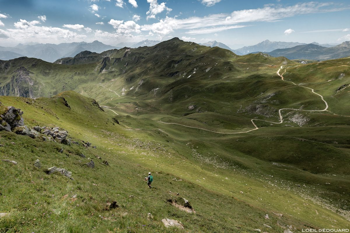 Le Col des Tufs Blancs et la Pointe de Dzonfié, Le Beaufortain Savoie Paysage Montagne Alpes © L'Oeil d'Édouard - Tous droits réservés