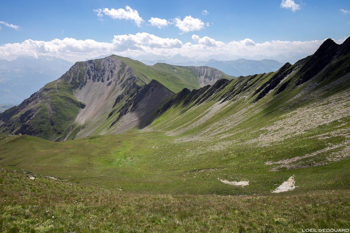 Le Col de Corne Noire et la Pointe de Combe Bénite, Le Beaufortain Savoie Paysage Montagne Alpes