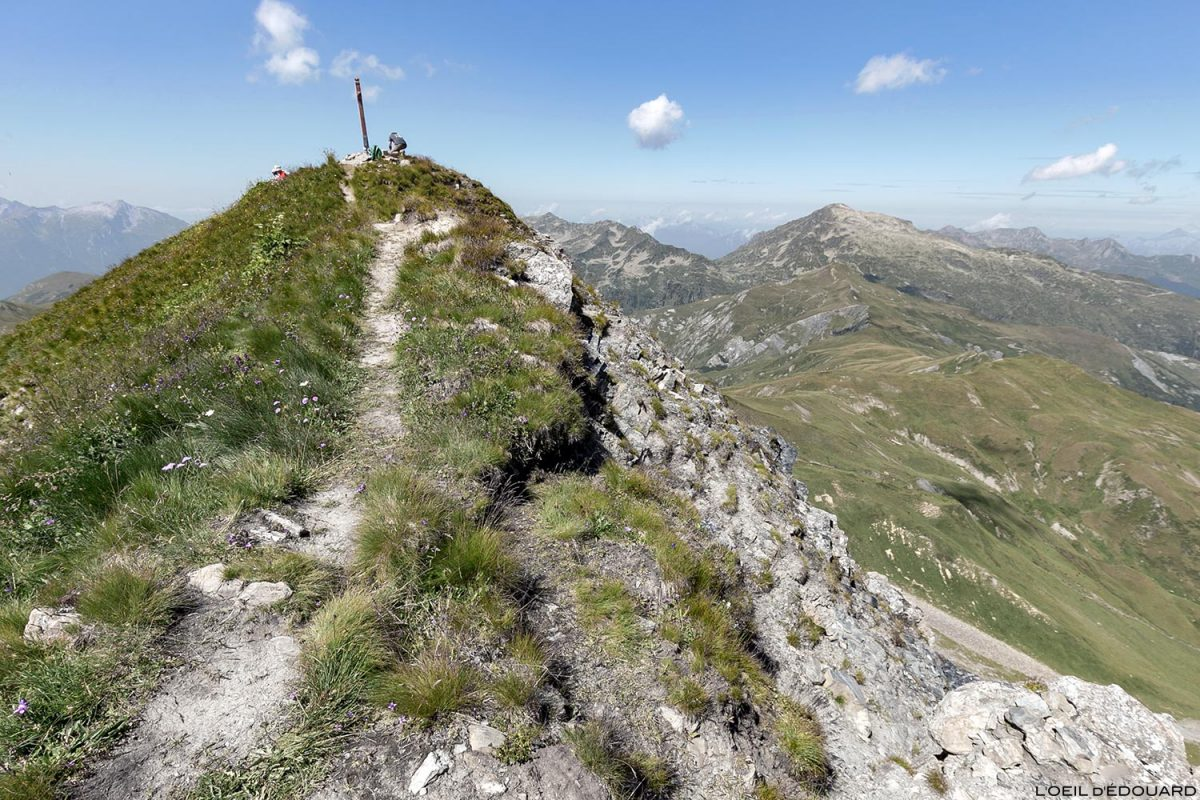 Le sommet du Crêt du Rey, Le Beaufortain Savoie Paysage Montagne Alpes