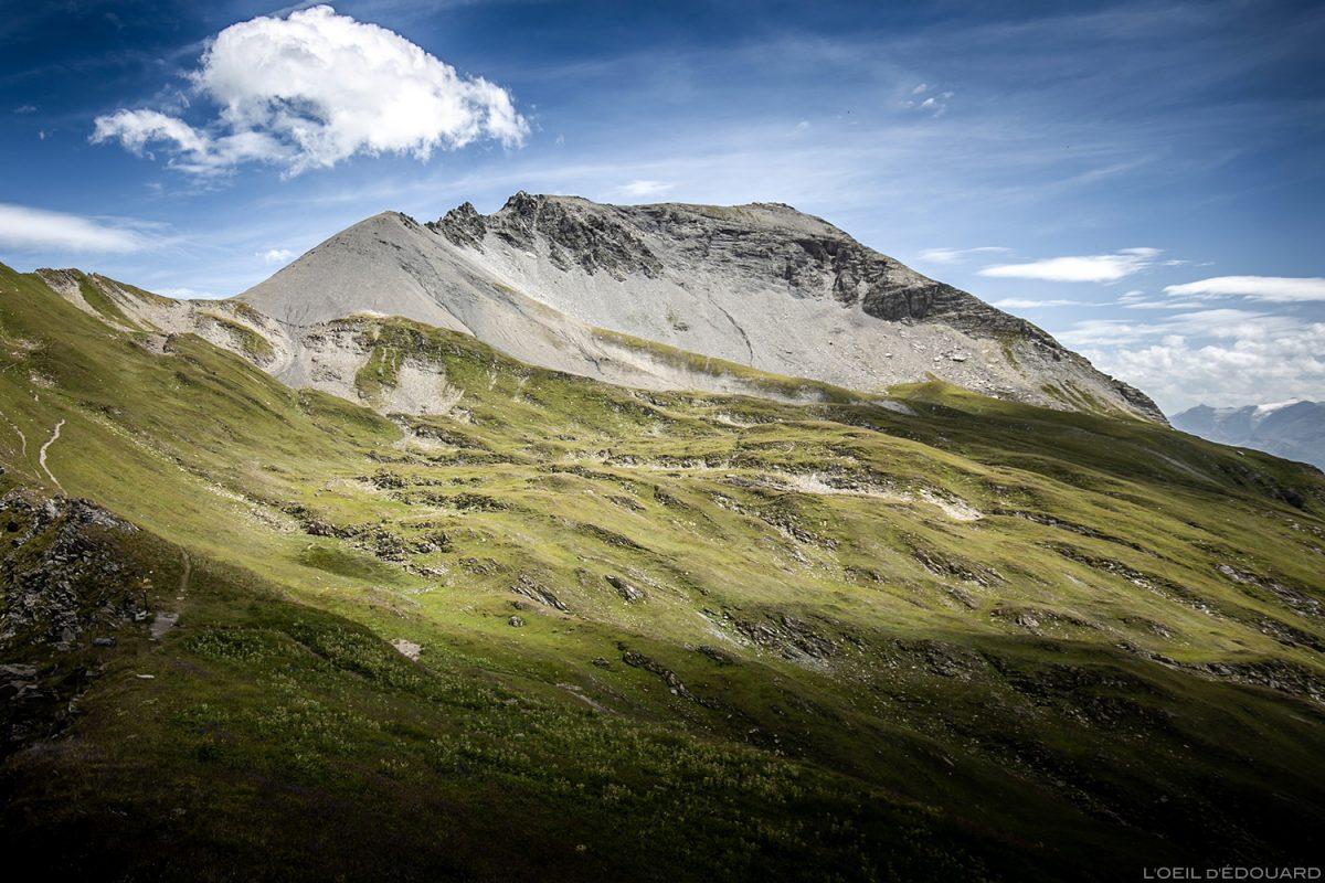 La Pointe de la Terrasse depuis le Passeur de Pralognan, Le Beaufortain Savoie Paysage Montagne Alpes © L'Oeil d'Édouard - Tous droits réservés
