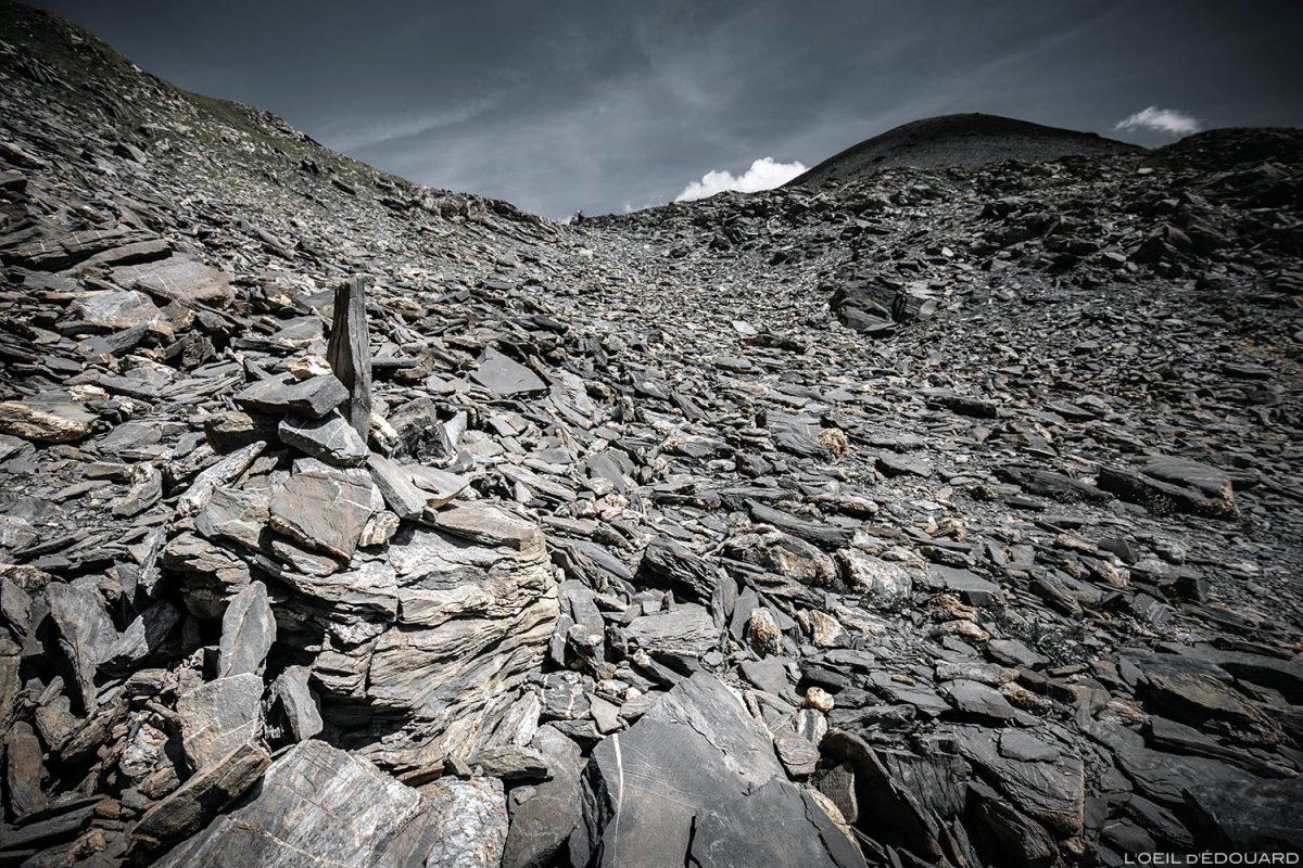 Pierrier sous La Pointe de la Terrasse depuis le Passeur de Pralognan, Le Beaufortain Savoie Paysage Montagne Alpes