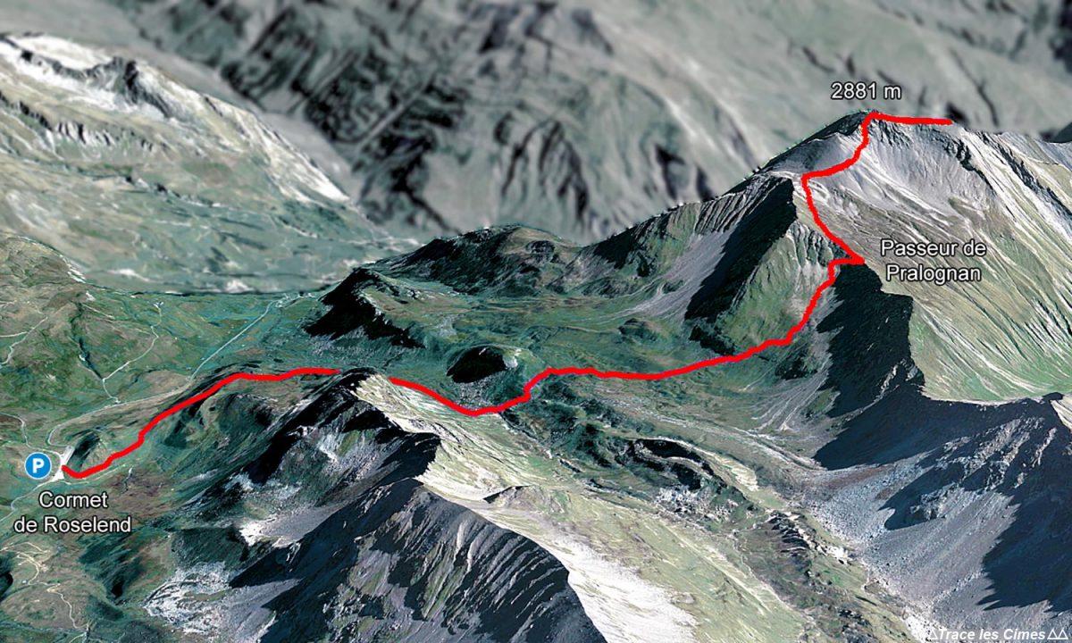 Itinéraire de randonnée à La Pointe de la Terrasse depuis le Cormet de Roselend, Le Beaufortain Savoie Paysage Alpes