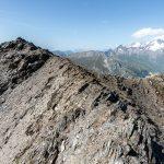 Le sommet de La Pointe de la Terrasse avec le Mont Blanc, Le Beaufortain Savoie Paysage Montagne Alpes