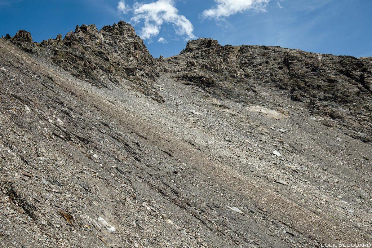 Pierrier sous La Pointe de la Terrasse, Le Beaufortain Savoie Paysage Montagne Alpes