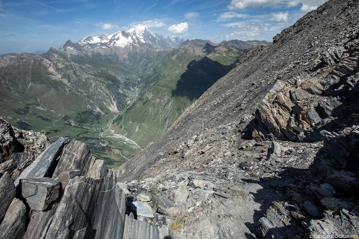 Le Mont Blanc depuis La Pointe de la Terrasse, Le Beaufortain Savoie Paysage Montagne Alpes
