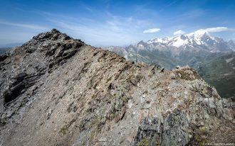 Sommet de La Pointe de la Terrasse avec vue sur le Mont Blanc, Le Beaufortain Savoie Paysage Montagne Alpes