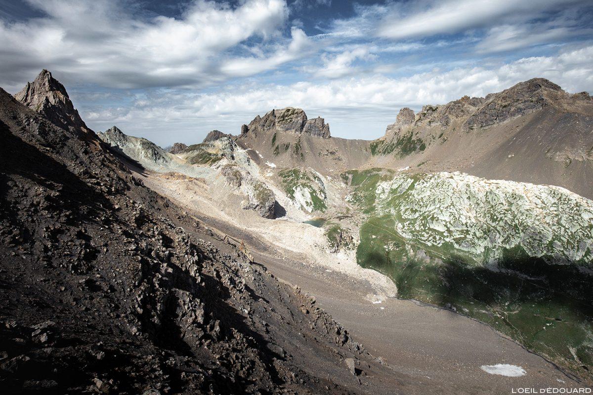 Le Combe de la Neuva, le Col du Grand Fond, la Pointe de Presset et l'Aiguille du Grand Fond, Le Beaufortain Savoie Paysage Montagne Alpes © L'Oeil d'Édouard - Tous droits réservés