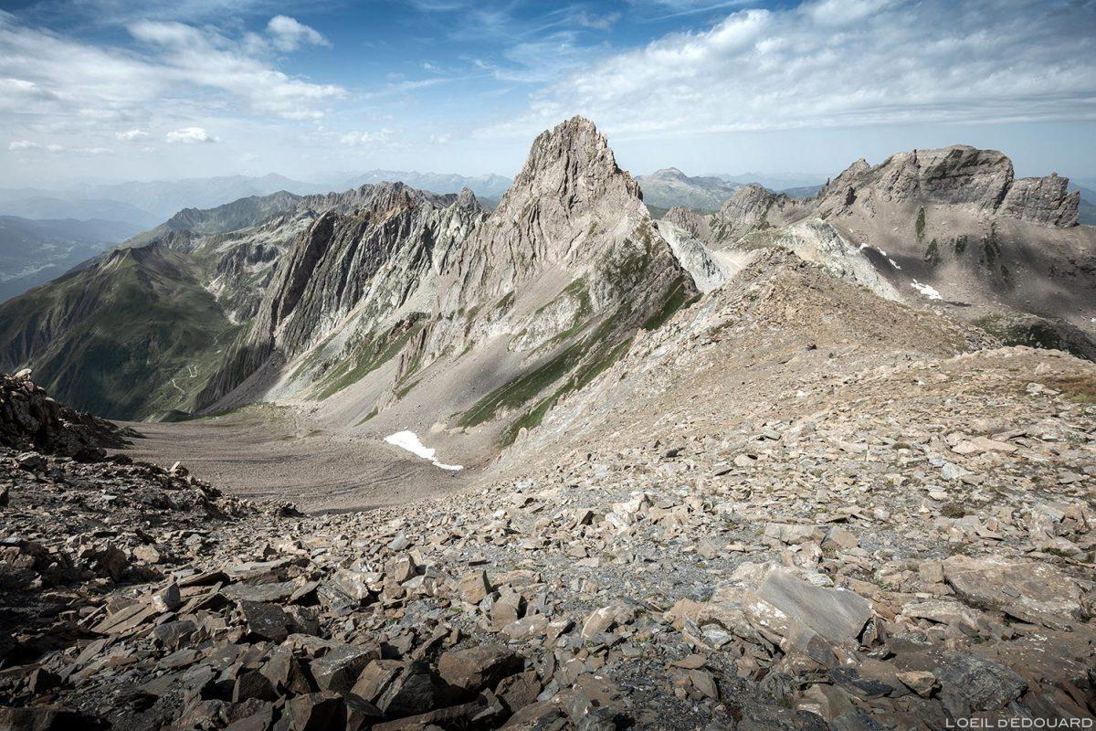 Le Col de la Nova et l'Aiguille de la Nova, Le Beaufortain Savoie Paysage Montagne Alpes © L'Oeil d'Édouard - Tous droits réservés