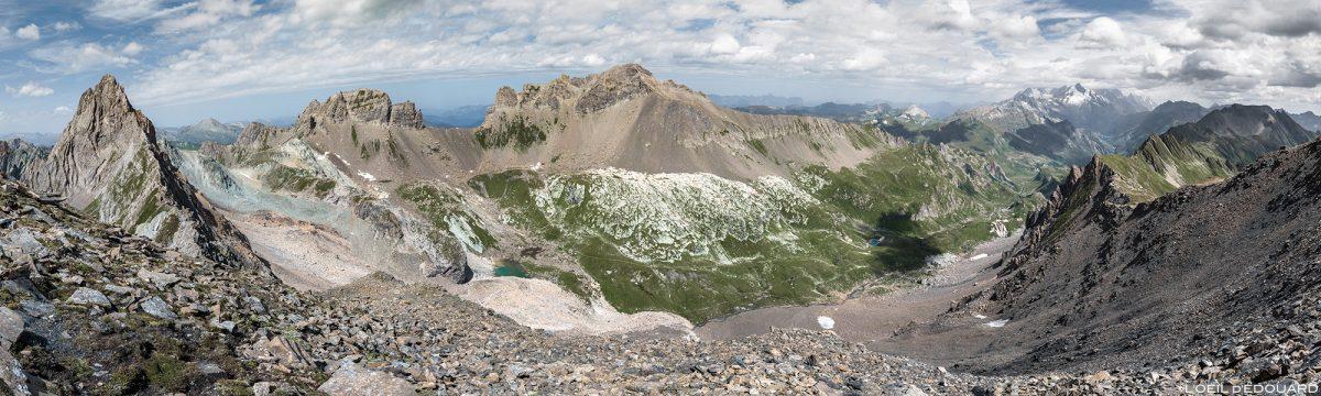 Le Combe de la Neuva depuis le Col de la Nova, Le Beaufortain Savoie Paysage Montagne Alpes