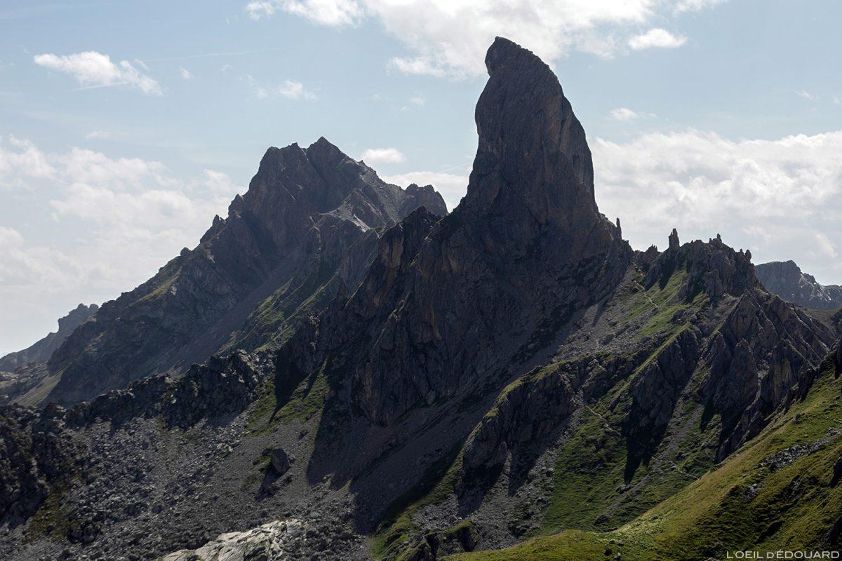 La Pierra Menta depuis le Refuge de Presset, Le Beaufortain Savoie Paysage Montagne Alpes