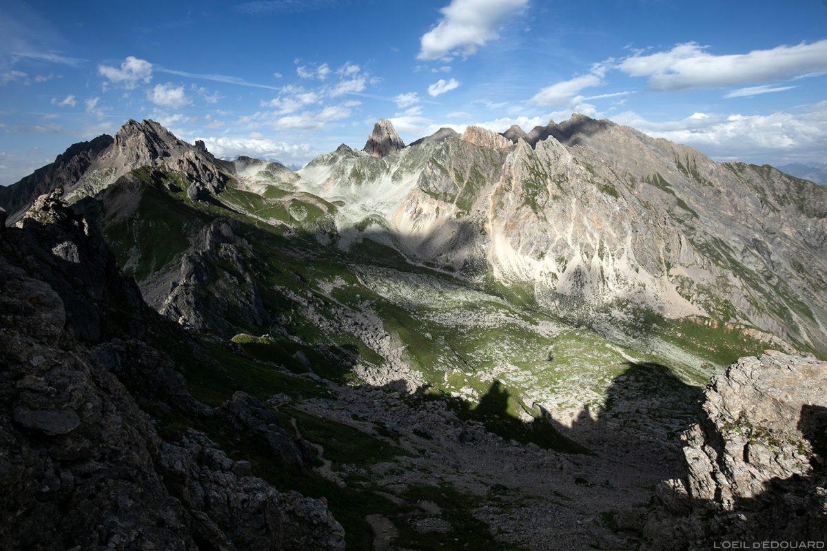 La Balme du Refuge de Presset avec l'Aiguille de la Nova et Le Roignais depuis le Passeur de Mintaz (Col à Tutu), Le Beaufortain Savoie Paysage Montagne Alpes