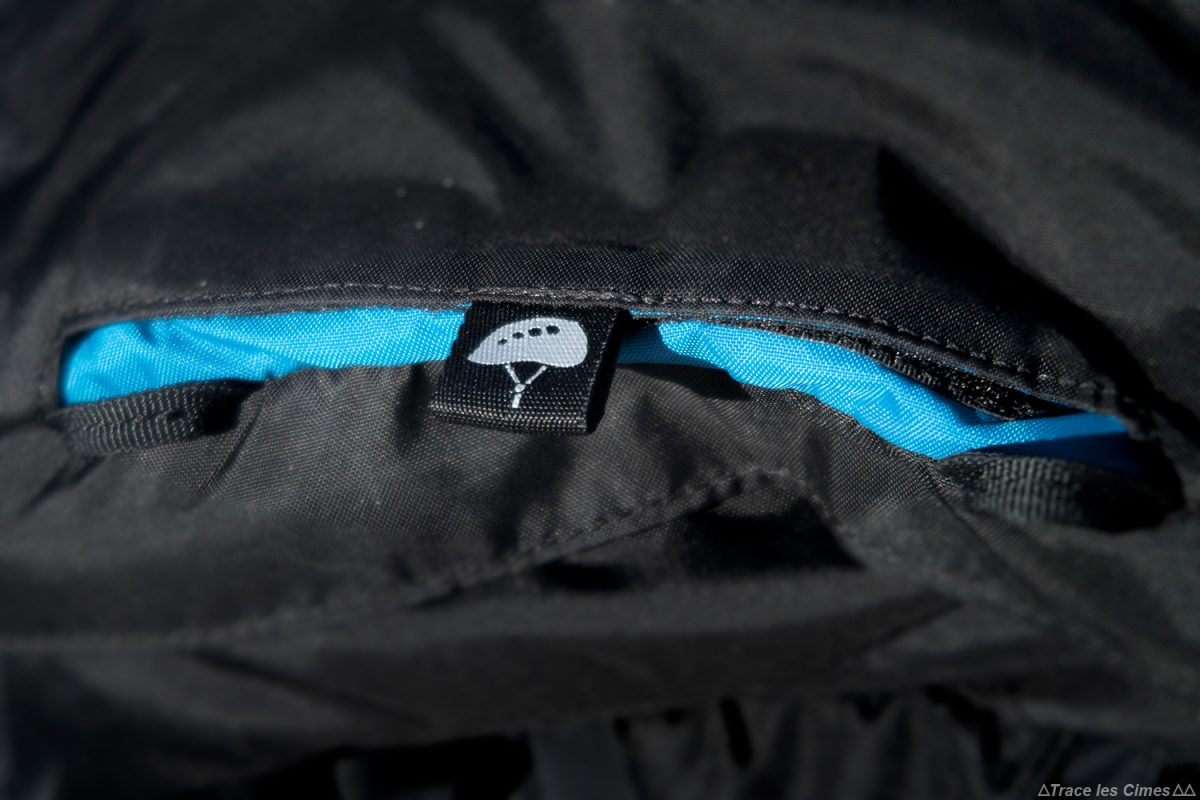 Poche filet casque Test sac à dos alpinisme ski de randonnée Osprey Mutant 38 backpack review
