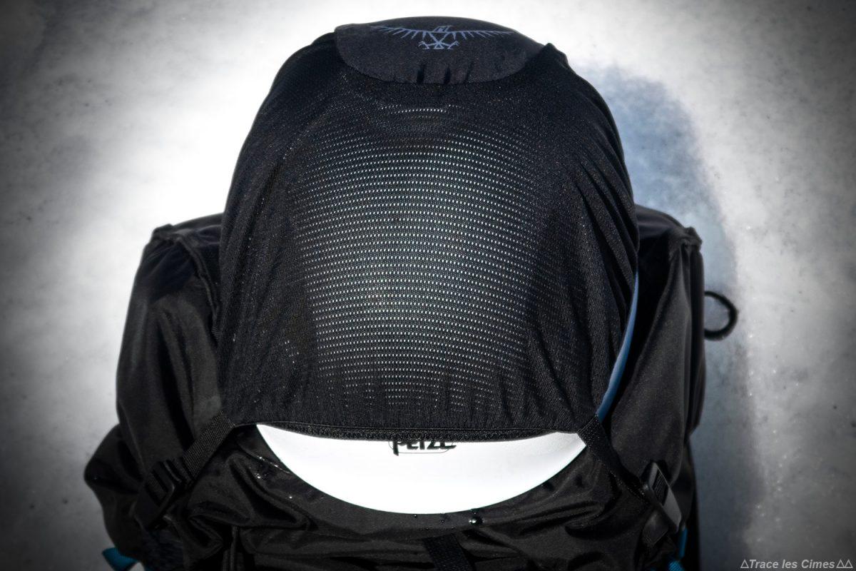 Filet casque Test sac à dos alpinisme ski de randonnée Osprey Mutant 38 backpack review