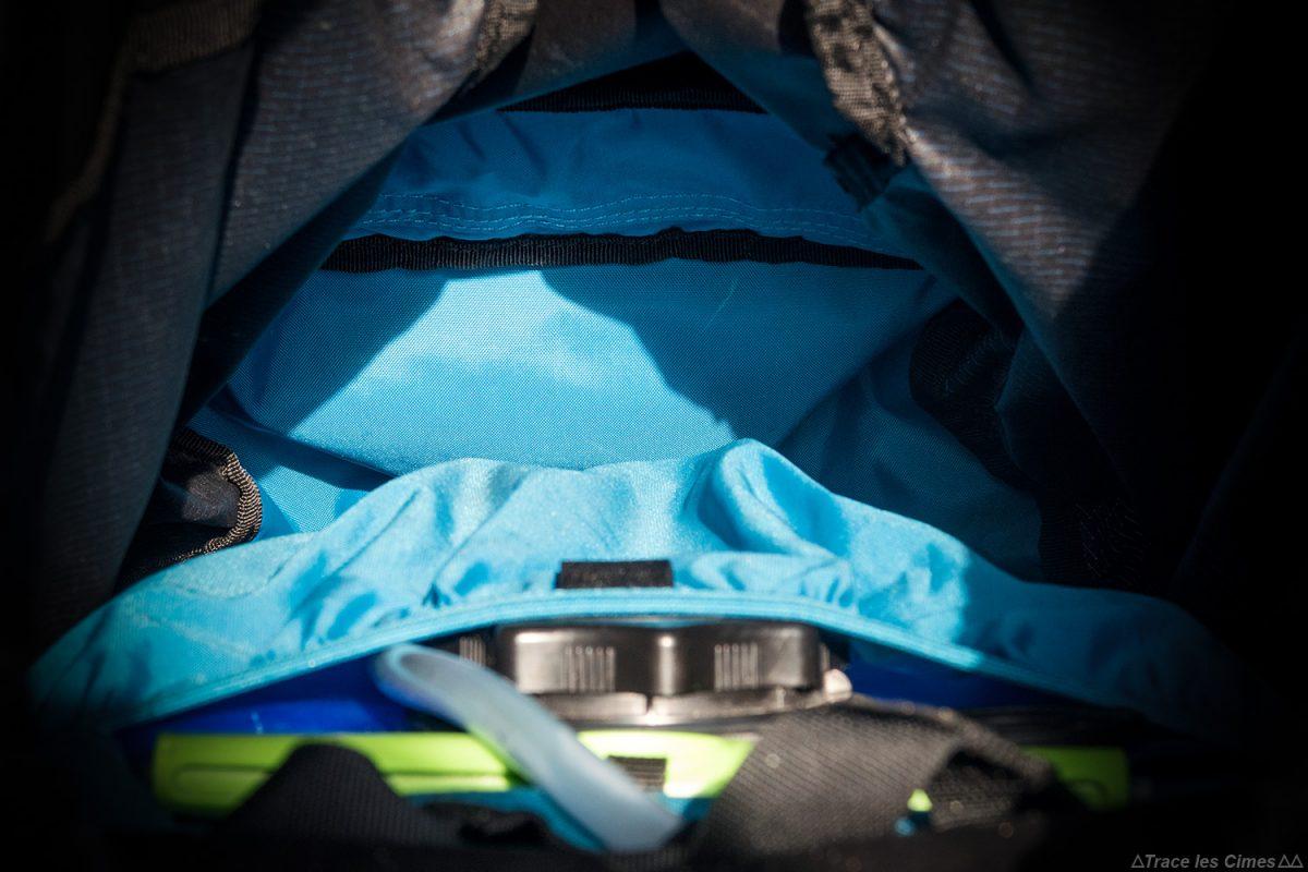 compartiment intérieur Test sac à dos alpinisme ski de randonnée Osprey Mutant 38 backpack review