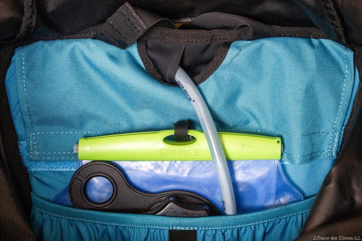 compartiment poche à eau Test sac à dos alpinisme ski de randonnée Osprey Mutant 38 backpack review