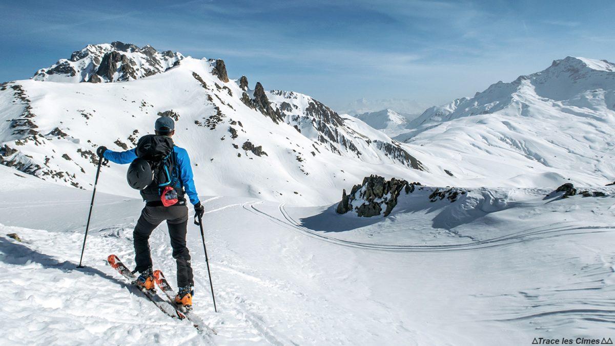 Ski de randonnée à la Roche Bénite (Massif de la Lauzière) avec le Col de la Madeleine et Saint-François-Longchamp