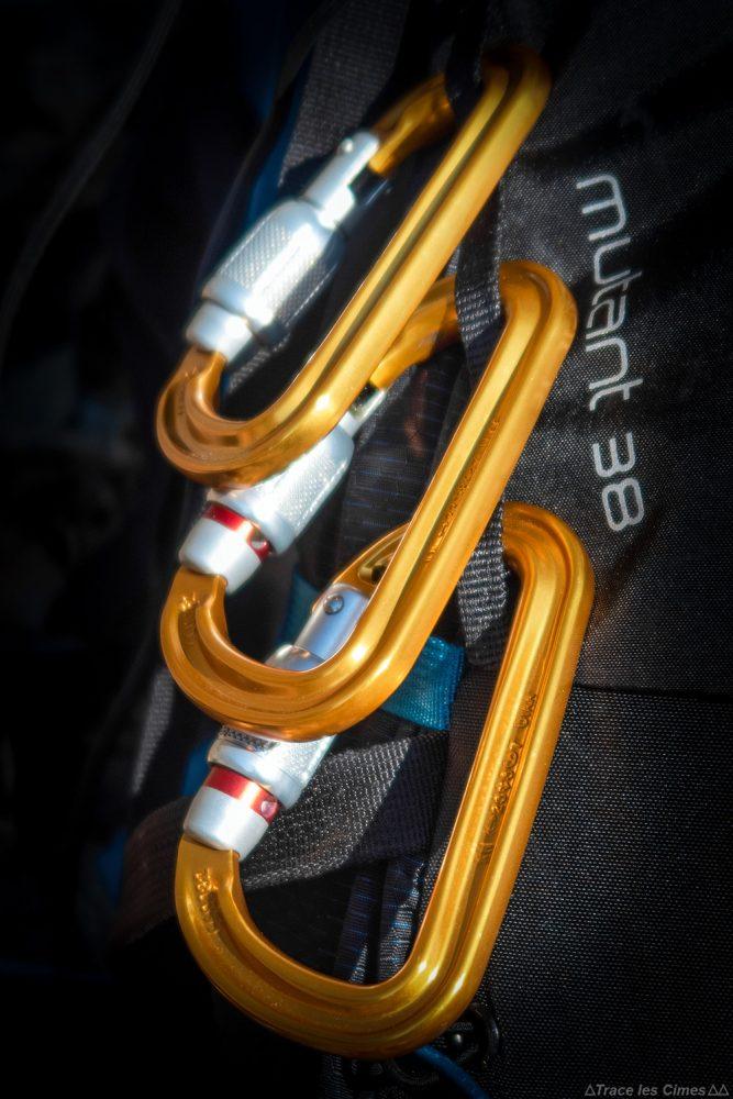 Daisy chain mousquetons Test sac à dos alpinisme ski de randonnée Osprey Mutant 38 backpack review