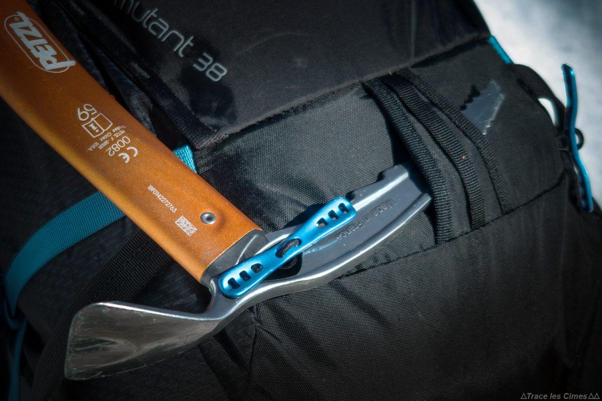Système accroche-piolet Tool Lock Test sac à dos alpinisme ski de randonnée Osprey Mutant 38 backpack review