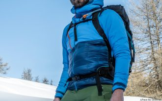 Test doudoune Millet Elevation Airloft hoodie jacket insulated blue / poseidon review outdoor alpinisme montagne mountain
