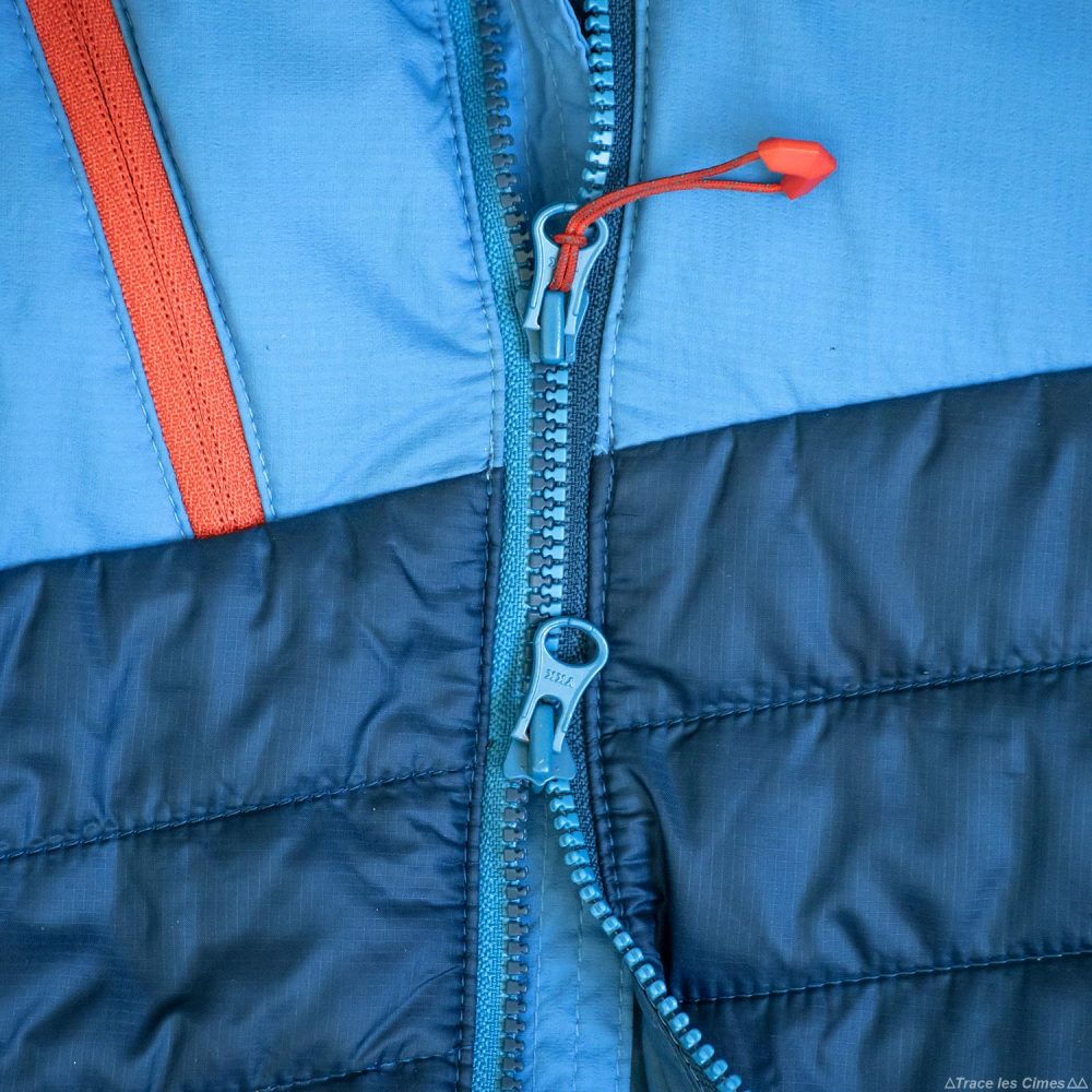 Test doudoune Millet Elevation Airloft hoodie zip jacket insulated blue / poseidon review outdoor alpinisme montagne mountain