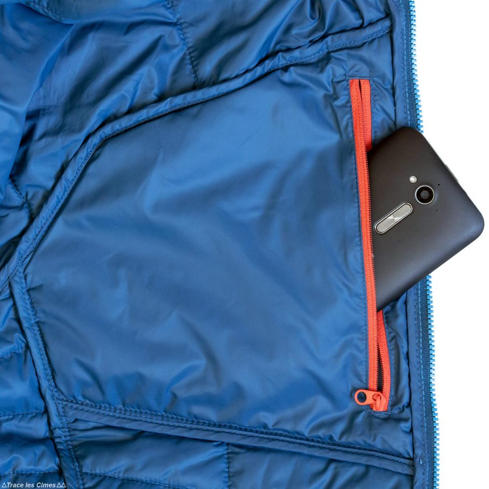 Test doudoune Millet Elevation Airloft hoodie poche jacket insulated blue / poseidon review outdoor alpinisme montagne mountain