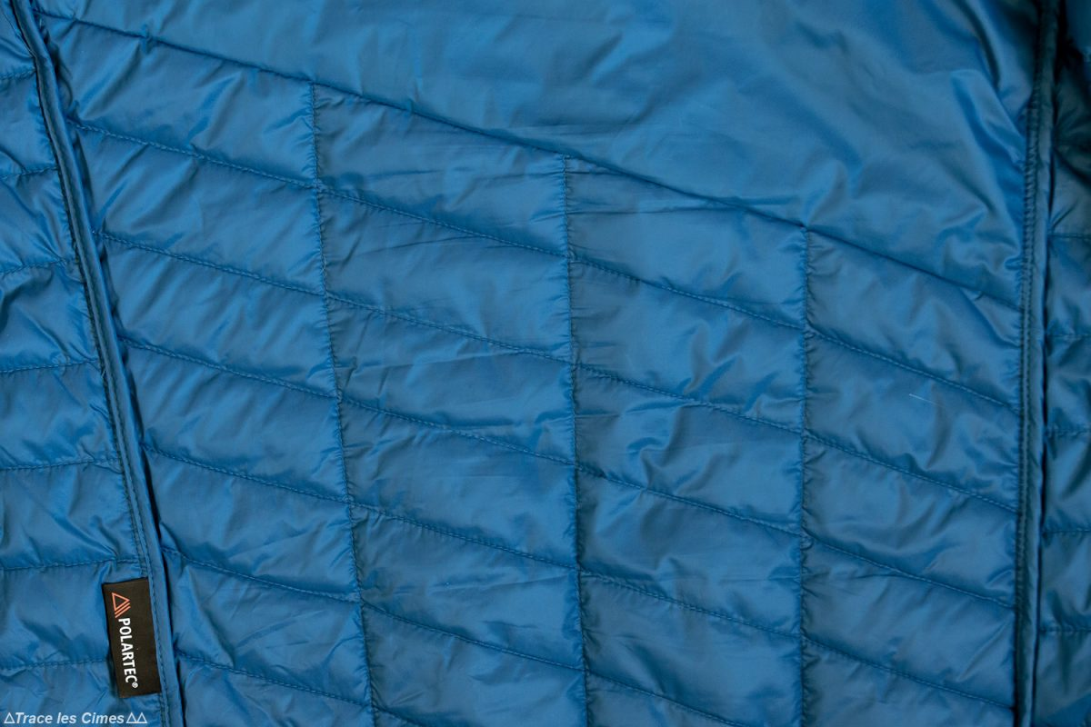 Test doudoune Millet Elevation Airloft hoodie / Polartec Power Fill - Pertex Quantum Ultra Light / jacket insulated blue / poseidon review outdoor alpinisme montagne mountain