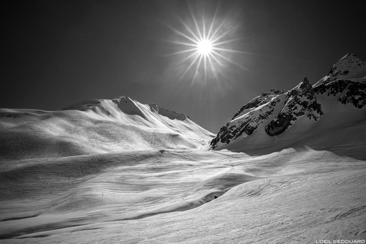 Le Mont Rosset et le Col du Mont Rosset sous la neige en hiver - Massif du Beaufortain, Savoie / Ski de randonnée Paysage Montagne Outdoor Mountain winters snow ski touring