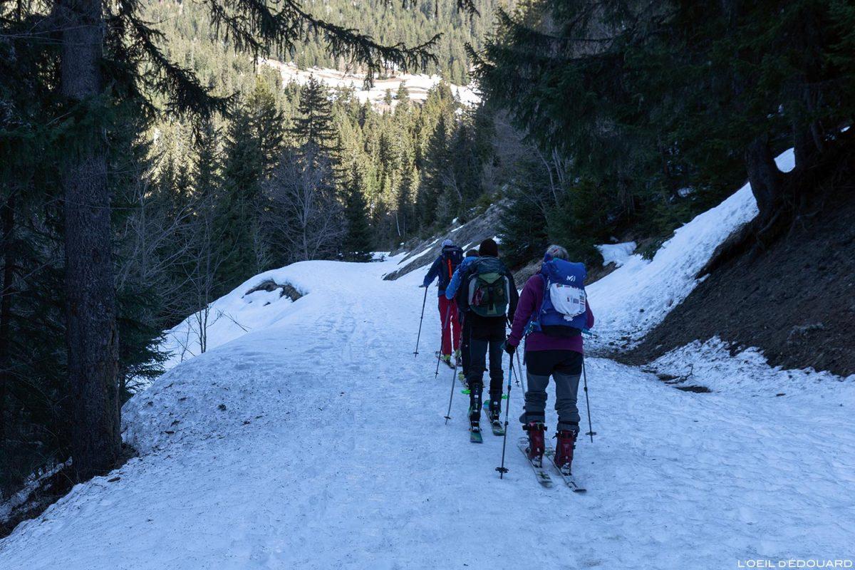 Départ ski de randonnée Les Pars - Massif du Beaufortain, Savoie