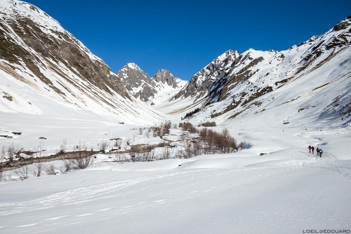 Le Vallon du Forand en hiver - Massif du Beaufortain, Savoie / Ski de randonnée Paysage Montagne Outdoor Mountain winter ski touring